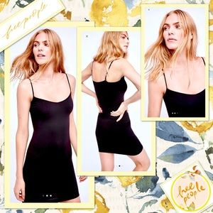 🌻 Free People Seamless Mini Slip Dress EUC 🌻